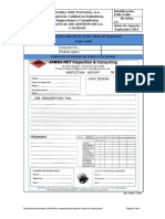 For-T-009 Formato Para Informe de Avance Diario de Inspección