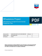Wheatstone Project Oil Spill Environmental Response Plan