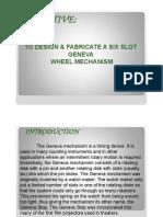 Geneva Wheel Presentation