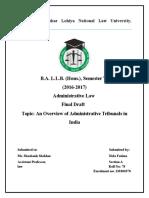 Admin Law Fd., Six Sem