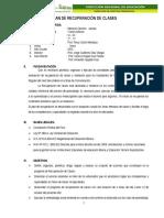 Plan de Recuperación de Clases - 2015
