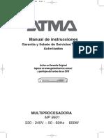 Manual Atma Mp 8601