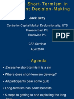 Avoiding Short Termism by Jack Gray