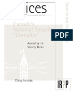 "Canada's National Security ""Complex"" -- Forcese"