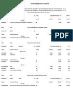 Analisis de Costos Fin Pasaje Perfil