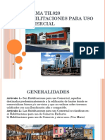 NORMA TH.020HABILITACIONES PARA USO COMERCIAL