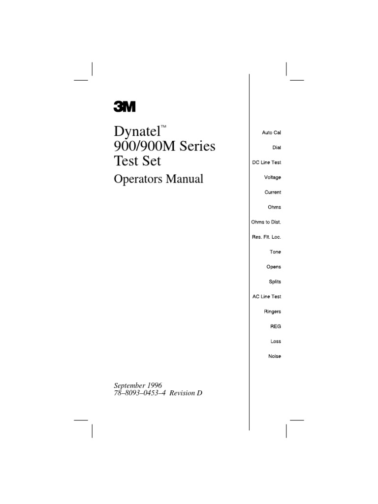Dynatel 965t manual decibel electrical resistance and conductance nvjuhfo Image collections
