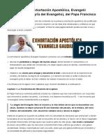 La Alegria Del Evangelio Resumen