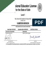 educator license level 1