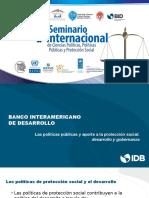 Conferencia Magistral «Las políticas públicas y su aporte a la protección social