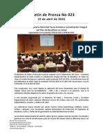 Boletín 022 MinSalud y La Secretaría Salud Del Cauca Brindaron Actualización Integral Del Plan de Beneficios en Salud