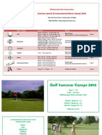 2016 Summer Sports Camp Brochure