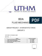 FLUIDS MECHANICS GROUP PROJECT