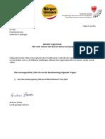 80 Euro Bonus Anfrage und Antwort Landtag - LAbg. Andreas Pöder
