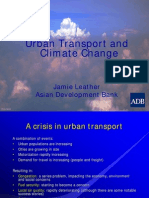 Urban Transport and Climate Change