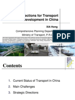 Strategic Directions for Transport Development in China