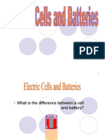9 Electric Cells and Batteries