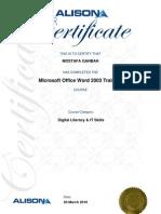 Mostafa Ganbah Alison Certification