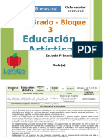 Plan 2do Grado - Bloque 3 Educación Artística.doc