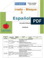 Plan 2do Grado - Bloque 3 Español.doc