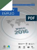 Agua y Empleo -Informe de Las Naciones Unidas 2016