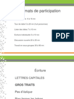 Formats de Participation Et Flipchart