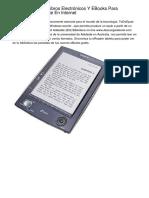 Donde Encontrar Libros Electrónicos Y EBooks Para Descargar Sin coste En Internet