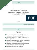 Antykryzysowe działania wybranych banków centralnych w latach 2007-2010