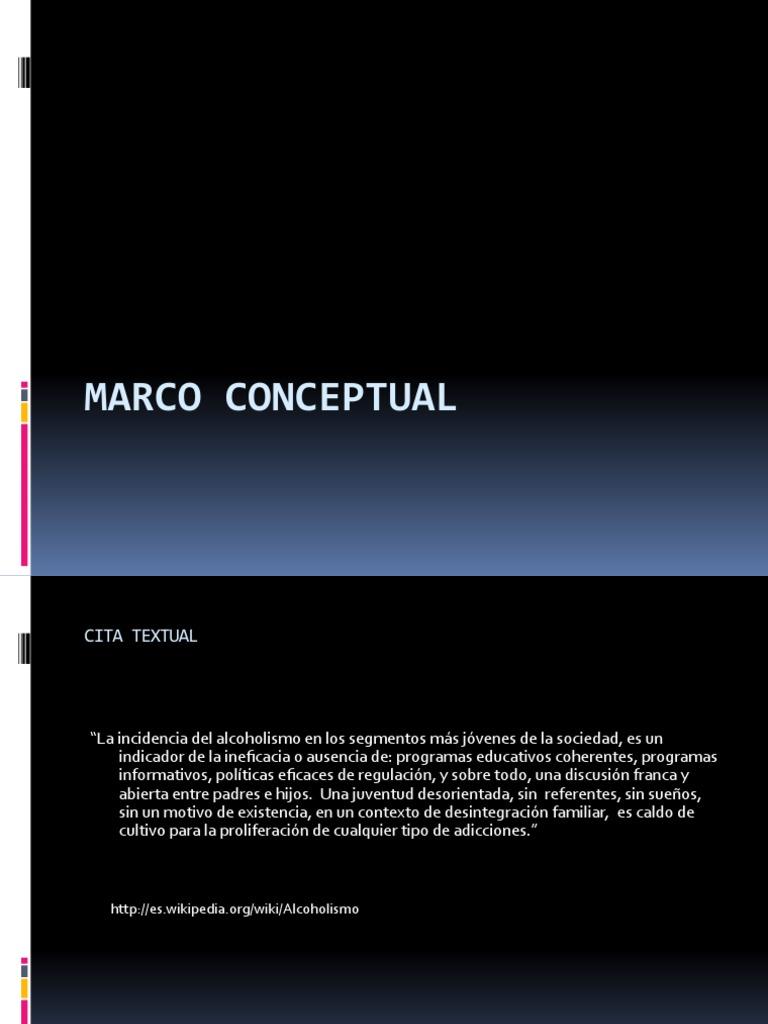 Alcoholismo Marco Conceptual[1]