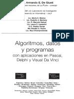 Algoritmos, datos y programas. Con aplicacion en Pascal, Delphi y Visual Da Vinci