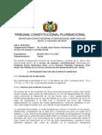 Sentencia Constitucional 0089-2016