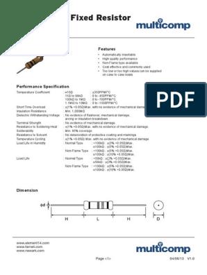 5/% 4,7 K prezzo per: 50 250mW Multicomp-MCF 0,25 W 4K7-RESISTORE