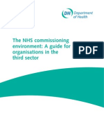 The NHS Commissioning Environment, A Guide for ion in the Third Sector