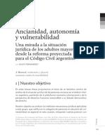 Ancianidad y Autonomia