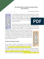 Didáctica y Formación de Docentes. Milena Barrios