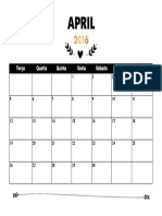 Calendário FEV