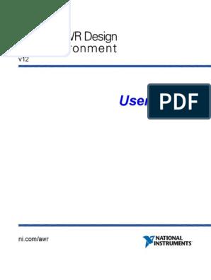 Users Guide NI AWR   Infographics   Tab (Gui)