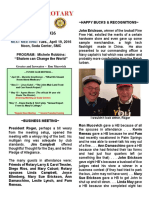 Moraga Rotary Newsletter - April 12 2016