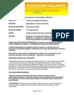 16-013 Especialista en Asuntos Culturales _Versi__n en Espa__ol