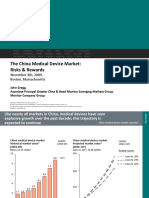 Monitor China Market Entry Med Devices