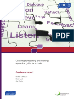Coaching for Teaching and Learning a Practical Guide for Schools