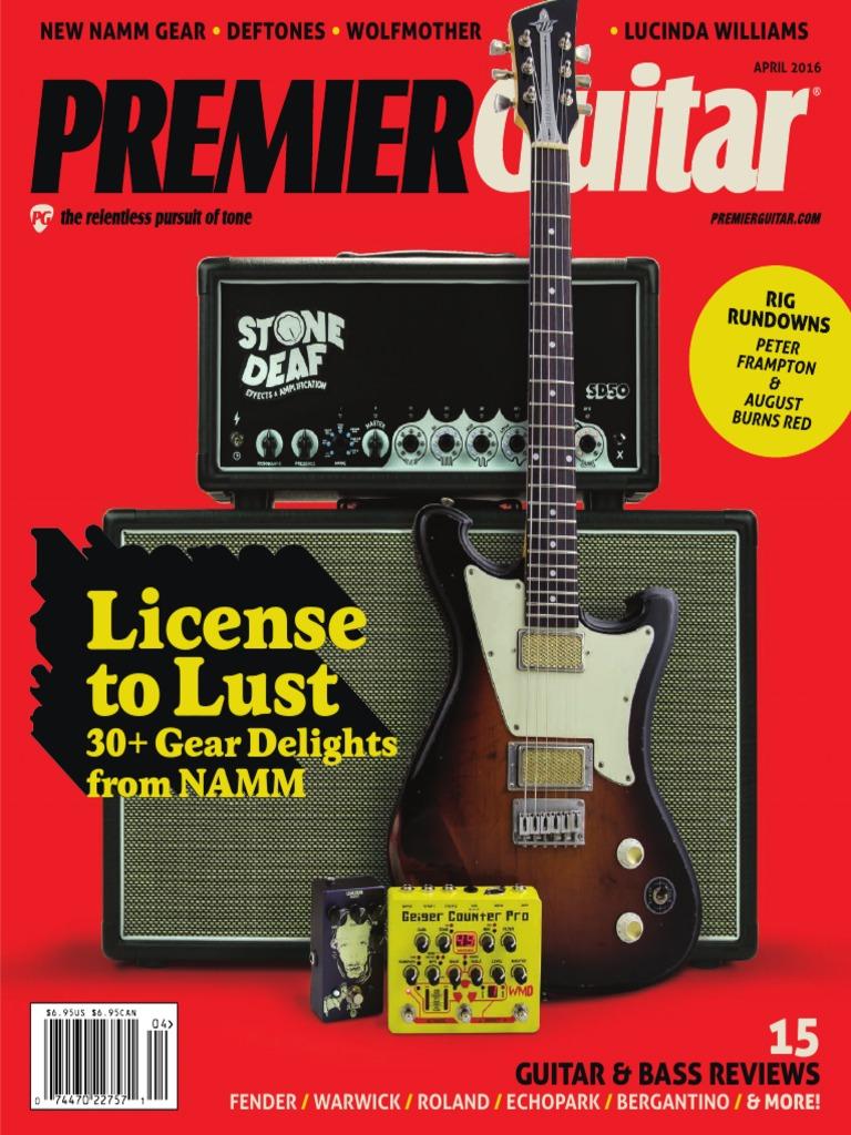 Premier Guitar April 2016 Guitars Family Instruments Gfs Pickup Wiring Diagram Humbucker Color Code Floyd
