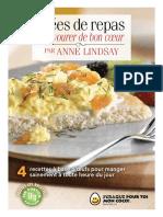 Idees de Repas a Savourer de Bon Coeur Par Anne Lindsay