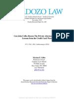 Friedman-Gilles Draft  Cardozo John Coffee