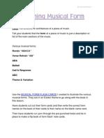 Teaching Musical Form by Theresa Preece PDF