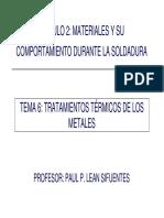 Tratamientos Térmicos de Los Metales - Material Base y Uniones Soldadas