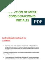 Modificación Conductual Seleccion de Meta Consideraciones Iniciales