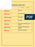Discussion Timetable