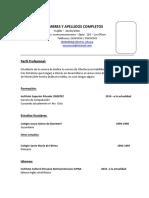 201641 - Actividades II Modelo de CV - 2016 - I