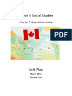 grade 5 social studies chapter 7 unit plan
